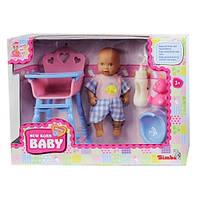 Пупс, 12 см, со стульчиком для кормления и аксессуарами, New Born Baby (503 9806-1)
