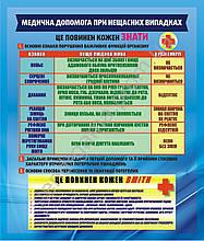 """""""Медична допомога при нещасних випадках"""" 86х101 см"""