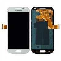 Дисплей (экран) для Samsung i9190 Galaxy S4 mini/i9192/i9195 + с сенсором (тачскрином) белый Оригинал