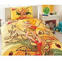 Постельное белье Tac Disney - Winx Stella Naturel Love  160*220 подростковое