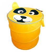 Корзина для игрушек желтого цвета Собака 40*50 см