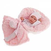 Кукла-младенец Эдуарда в розовом 42см, Antonio Juan 5006