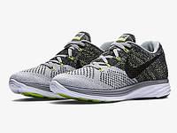 Кроссовки мужские Nike Flyknit Lunar White/Grey (найк) серые
