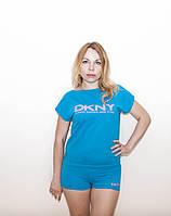 Костюм спортивный женский с коротким рукавом майка плюс шорты DKHY