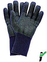 Защитные перчатки, утепленные, изготовленные из трикотажа, с односторонней ПВХ точкой RJ-AKWEV GZ