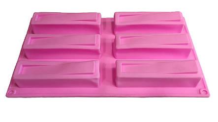 Евродесерт форма силиконовая 6 шт на планшете, фото 2