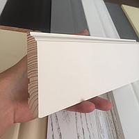 Плинтус деревянный RAL 9010 Колониал 80х16 мм
