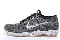Кроссовки мужские Nike Zoom Fit Agility Flyknit (найк) серые