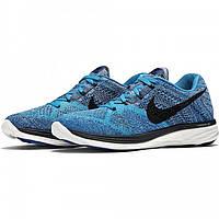 Кроссовки мужские Nike Flyknit Lunar 3 Blue Lagoon (найк) синие