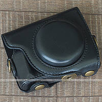 Кожаный чехол для фотоаппарата Canon PowerShot G9 X / G9 X Mark II Black