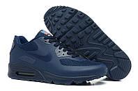 Кроссовки мужские Nike Air Max 90 Hyperfuse (в стиле найк аир макс 90) синие