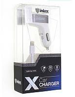 Автомобильное зарядное устройство АЗУ - USB INKAX CD-06 LIGHTNING белый