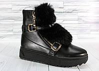 Зимние ботинки с мехом. Натуральная кожа.1546
