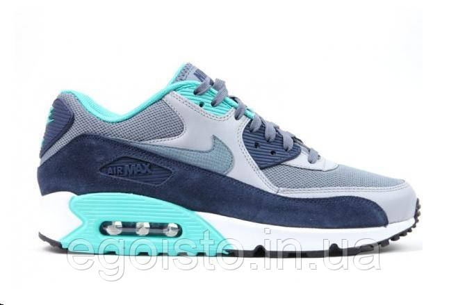 452fe8dcb08 Кроссовки мужские Nike Air Max 90 Essential Blue Graphite Wolf Grey (найк  аир макс 90