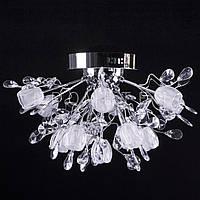 LED люстра с диодной подсветкой (лампочки в комплекте). P5-Y0683/13 CH/HIGH