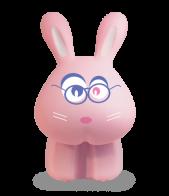 Светильник в детскую комнату Кролик Фролик-2 розовый