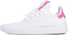 Женские кроссовки Pharrell Williams x Adidas Tennis Hu Stan Smith White Pink