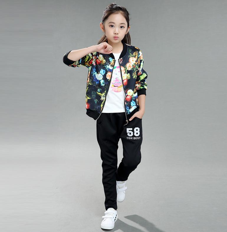 Спортивний костюм для дівчинки, весна та осінь - Інтернет-магазин дитячого  та жіночого одягу fc56c6a5529