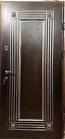 Входная дверь модель П5-347 3д+патина венге / белое дерево