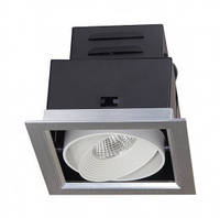 Светильник электрический светодиодный в металлическом корпусе что встраивается   PSP-S 111  1x9W 4000K GREY