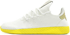 Мужские кроссовки Pharrell Williams x Adidas Tennis Hu Stan Smith White Yellow