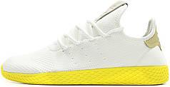 Мужские кроссовки Pharrell Williams x Adidas Tennis Hu Stan Smith White Yellow