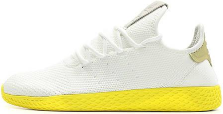 363d55b239f0cf Женские кроссовки Pharrell Williams x Adidas Tennis Hu Stan Smith White  Yellow, фото 2