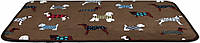 Коврик Trixie FunDogs Lying Mat плюшевый, коричневый с принтом, 90х68 см, фото 1
