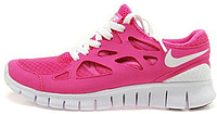 Женские кроссовки Nike Free Run Plus 2 (найк фри ран) розовые