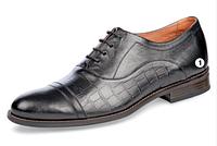 Мужские кожаные черные туфли ТМ Мида 110240