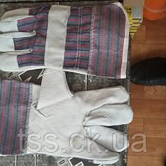 Перчатки кожаные с телячего спилка (арматурщика)