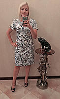 Selta платье 495 осень  батал полубатал белое 52