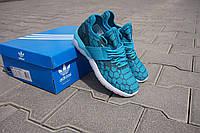 Мужские кроссовки Adidas Tubular Runner голубые - 150-23