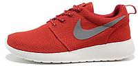 Женские кроссовки Nike Roshe Run, найк роше ран красные