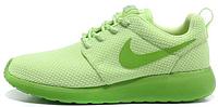 Женские кроссовки Nike Roshe Run, найк роше ран зеленые