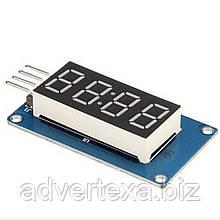 Семисегментный 4-разрядный LED индикатор с I2C драйвером TM1637