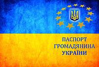 Кожаная обложка на паспорт герб Украины