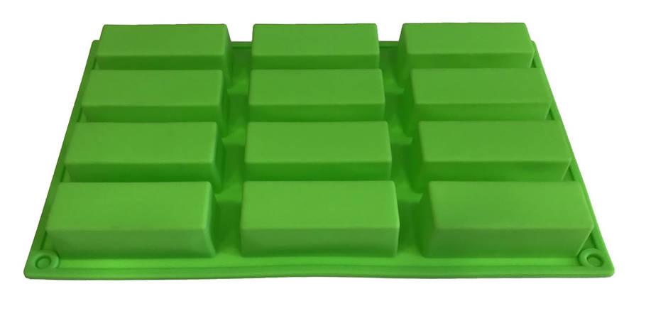 Евродесерт форма силиконовая 12 шт на планшете, фото 2