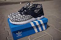 Мужские кроссовки Adidas Tubular Runner светло-серые - 150-36