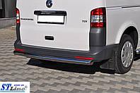 Защита заднего бампера (прямая труба d60mm) Volkswagen t5 (Фольксваген T5), нержавейка
