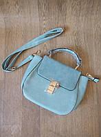 Голубая (цвет морской волны) небольшая сумка мессенджер с длинной ручкой на плечо Seawave
