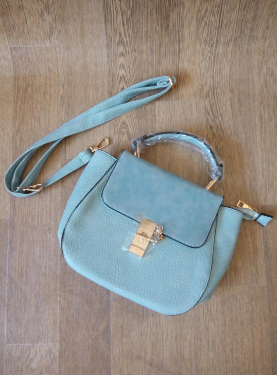 8109ec968c97 Голубая (цвет морской волны) небольшая сумка мессенджер с длинной ручкой на  плечо Seawave -