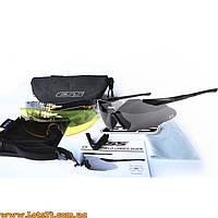 Тактические очки ESS ICE c диоптриями (3 линзы в комплекте, солнцезащитные вело-очки)