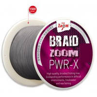 Шнур Braid Zoom PWR-X Braided line (grey), 0,14, 11,2kg, 1500m (CZ0230)