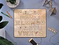 Алфавит деревянный Английский