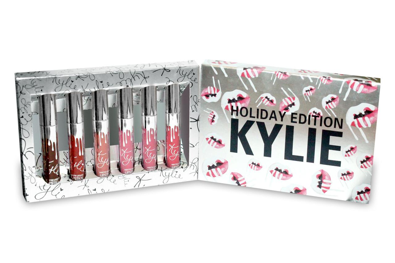 Набор жидких помад Kylie Holiday Edition 6 в 1