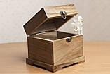 Квадратная шкатулка из ореха, фото 2
