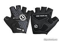 Рукавички з короткими пальчами KLS Comfort New чорн/біл S