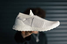 "Мужские кроссовки Adidas Ultra Boost Laceless Mid ""Triple White"" S80768, Адидас Ультра Буст, фото 3"