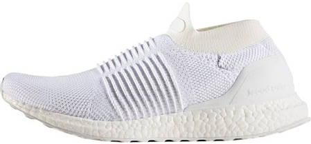 "Мужские кроссовки Adidas Ultra Boost Laceless Mid ""Triple White"" S80768, Адидас Ультра Буст, фото 2"